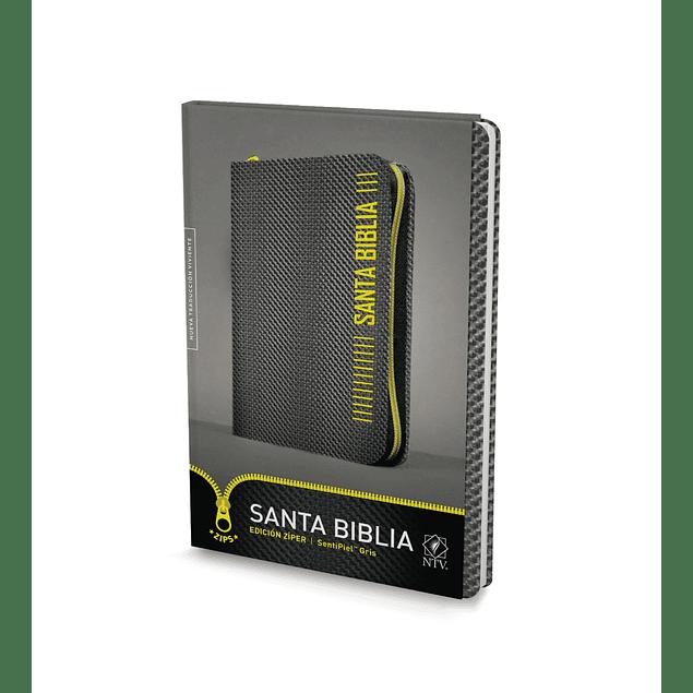 25% Dcto - Biblia NTV, Edición zíper (Gris)