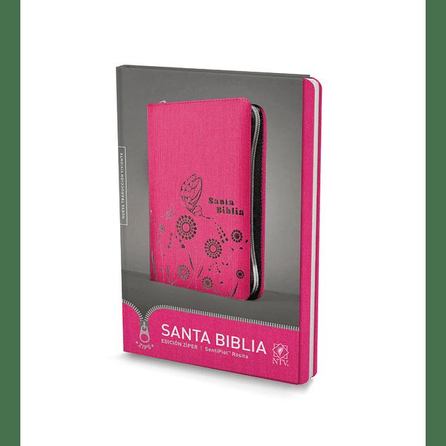 Biblia NTV, Edición zíper (Rosada)