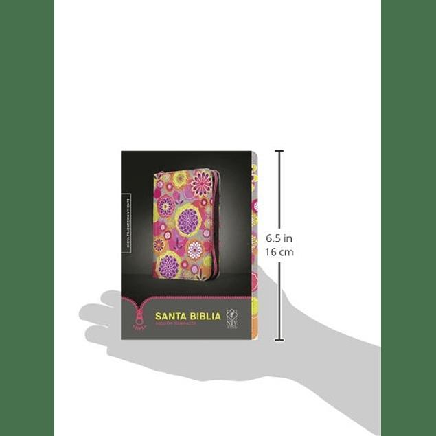 Biblia NTV Edición compacta Floral con cierre
