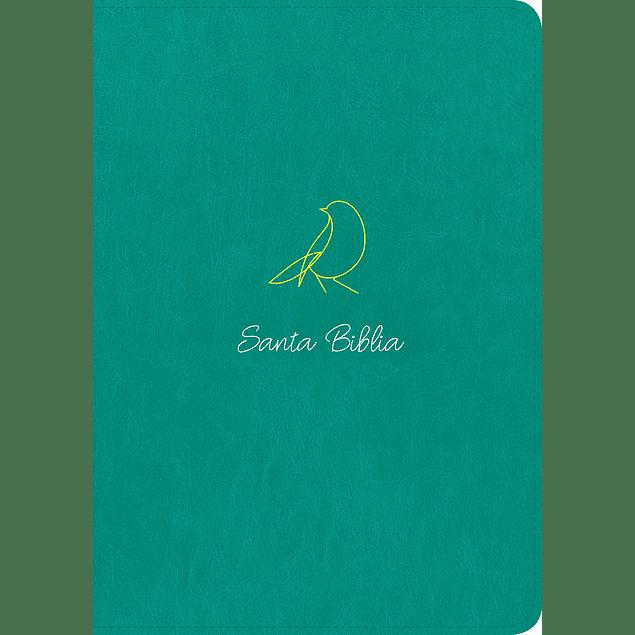 Biblia NTV Edición Zíper con referencias - Letra Grande -Senti Piel Turquesa