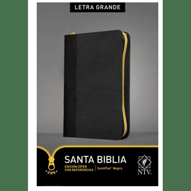 Santa Biblia NTV, Edición zíper con referencias, letra grande