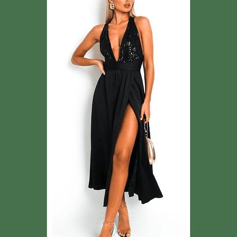 Vestido Tiras Lentejuela
