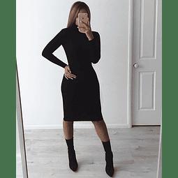 Vestido Slim Manga Larga