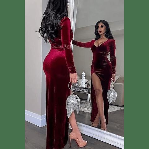 Vestido Escote Velvet