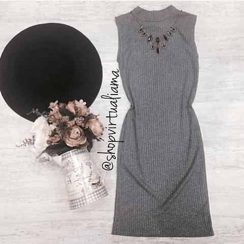 vestido Sisa Rib - Ref. VESSIR