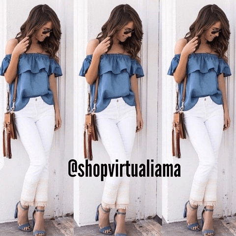 BLUSA Off Shoulder Denim - Ref. BLUOSH
