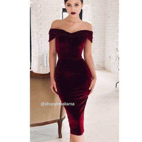 Vestido Velvet Coctel - Ref. VESVCO