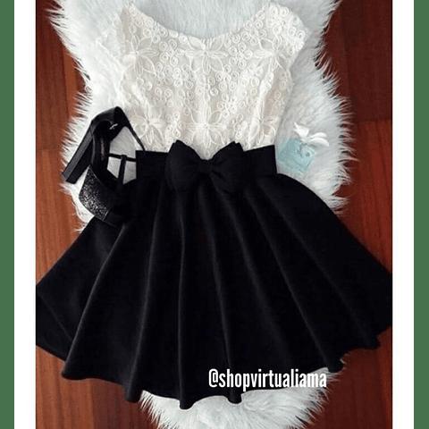 Vestido Blonda Moño - Ref. VESBMÑ