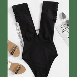 Vestido Baño V Escote