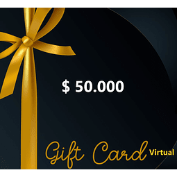 Gift card 50 mil