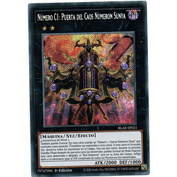 Numero C1: Puerta Del Caos Numeron Sunya Carta yugioh BLAR-SP021