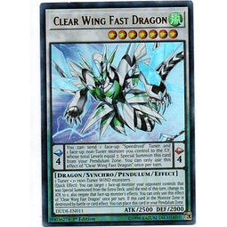 Clear Wing Fast Dragon Carta Yugi DUDE-EN011