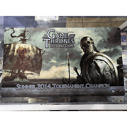 Playmat: A Game Of Thrones LCG Promo Official FFG Summer 2014 Tournament Champion