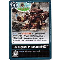 2x Looking back on the good times Digimon tcg BT3-107