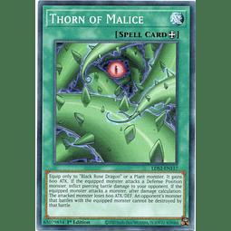 x3 Thorn of Malice carta yugi LDS2-EN117