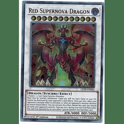 Red Supernova Dragon Carta yugi GFTP-EN045