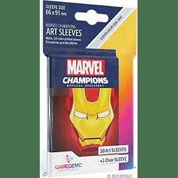 Mica Marvel Champions Art Sleeves - Iron Man 66 x 91 mm