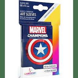 Mica Marvel Champions Art Sleeves Capitan America 66x91 mm