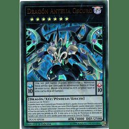 Carta Yugi Dragón Antelia Oscuro DUOV-SP036