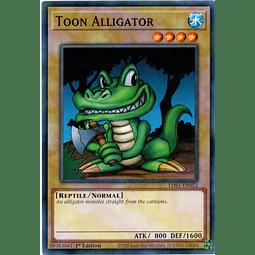 Toon Alligator Carta Yugioh LDS1-EN052