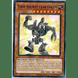 Toon Ancient Gear Golem Carta Yugioh LDS1-EN063
