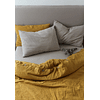 Tussor Curry Duvet Cover with Buttonhole and Button