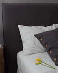 Graphite Gray Tussor Bed Back Cover