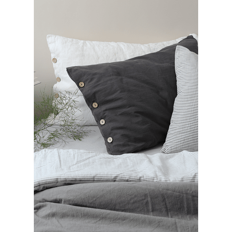 Carmelo Gray Graphite Cushion