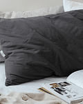 Brussels Gray Graphite cushion