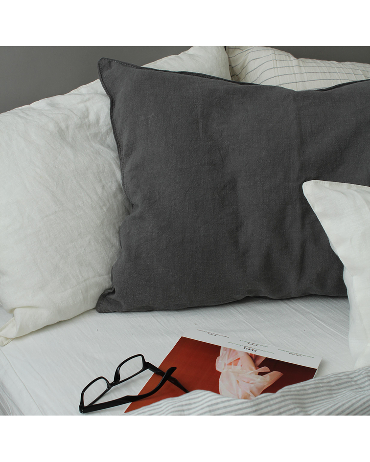 Lille Linen Slate Gray Cushion