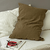 Lille Linen Olive Cushion