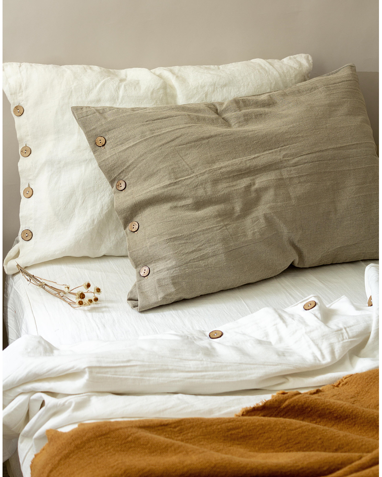 Tussor Quilt Cover Off White
