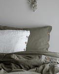 Olive Tussor Quilt Covers