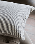 Lisse Striped Mink Cushion