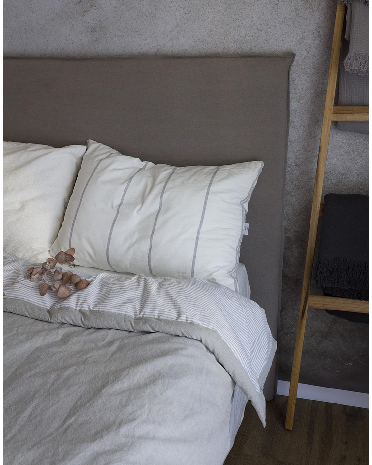 Stone Gray Removable Bed Backrest