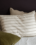 Corcovado Striped Olive Cushion