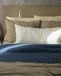 Navy Blue Tussor Quilt Covers