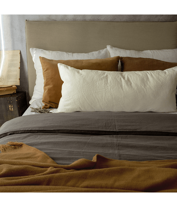 Tussor Quilt Cover Gray Stone