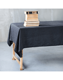 Turin Gray Cement Tablecloth