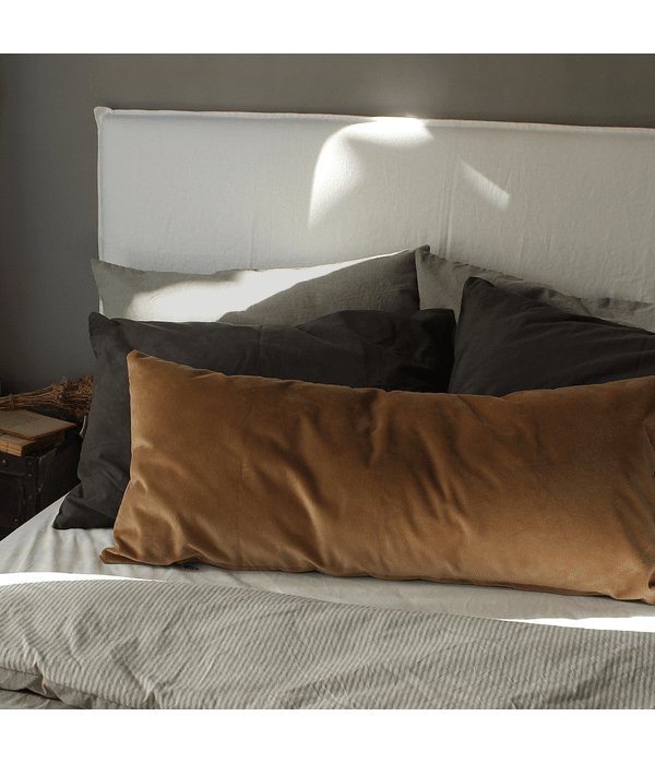 Tussor Off White Bed Back with Removable Cover