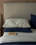 Pearl Gray Tussor Bed Back Cover