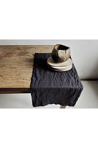 Table Runner Turin Gray Cement