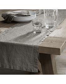 Orly Table Runner Ash Gray Linen