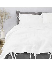Tussor White / Twin / King Duvet Cover