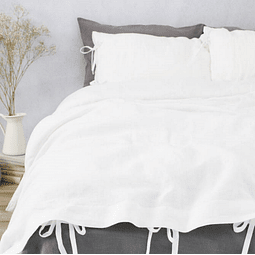 Covers Tussor White Twin / Queen / King Quilt