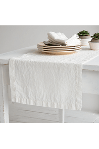 Table Runner Orly White Linen