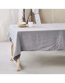 Pearl Gray Turin tablecloth