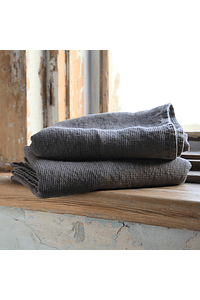 Graphite Gray Cotton Throw
