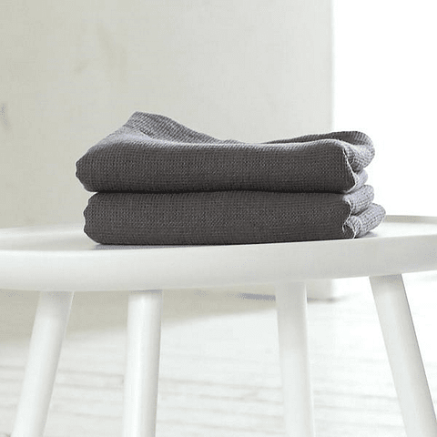 Throw / Graphite Gray Cotton Bed Foot