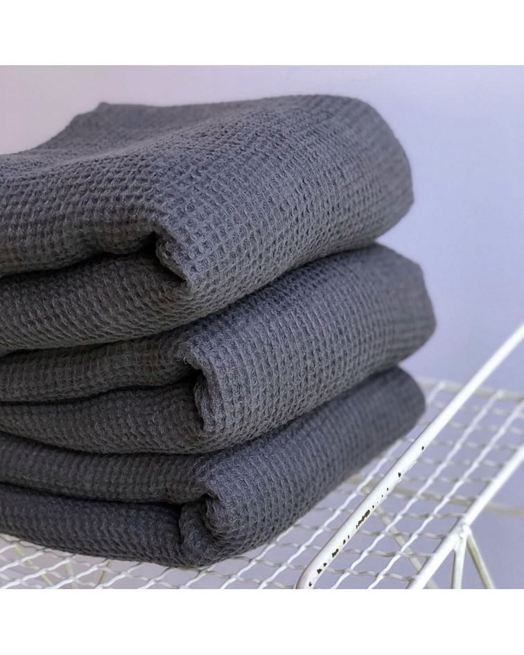 Throw / Foot Bed Cotton Graphite Gray